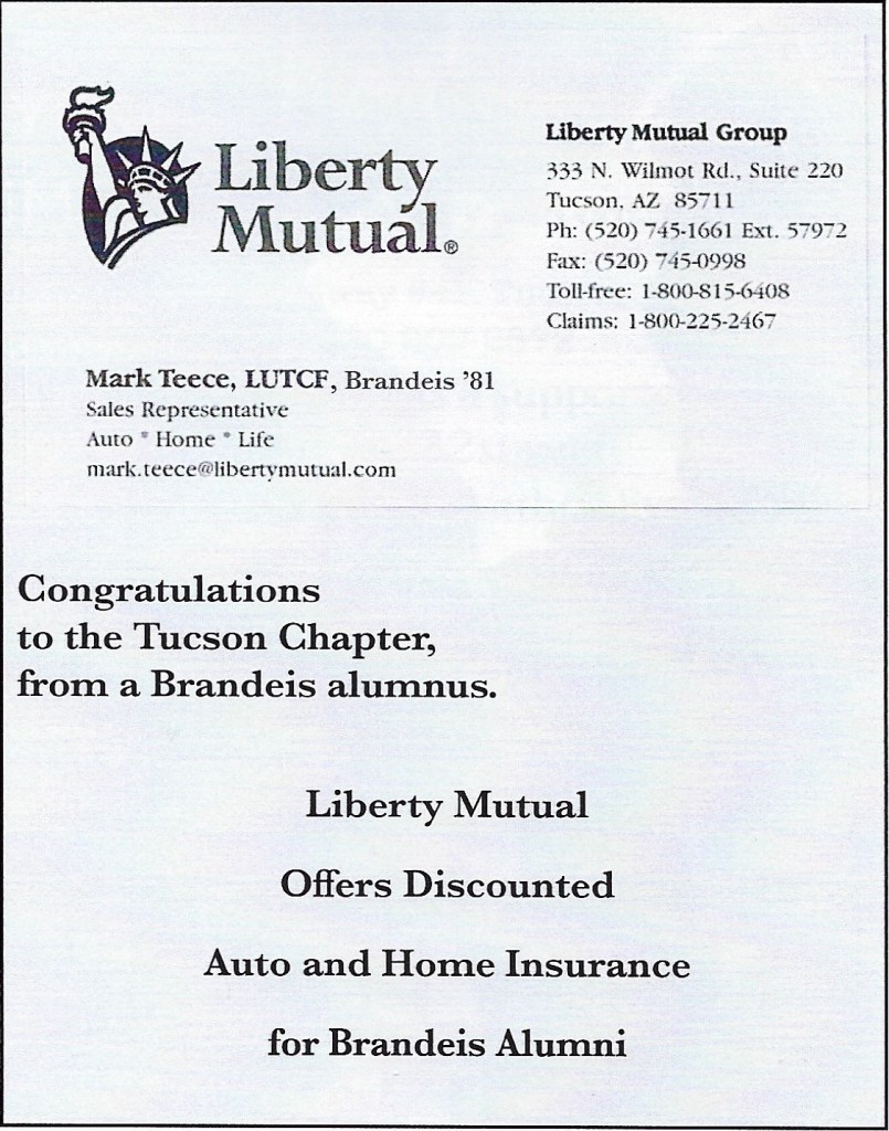 Liberty Mutual:Teece, Mark ¼