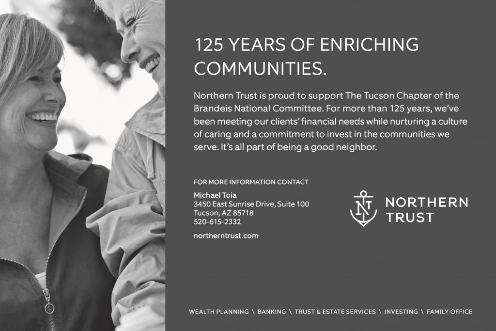 Northern Trust Ad for Brandeis